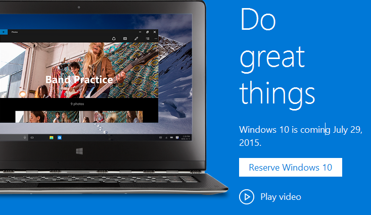 Windows 10 - Reservation to Upgrade